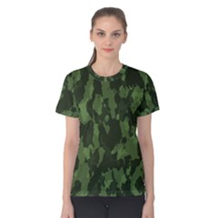 Camouflage Green Army Texture Women s Cotton Tee