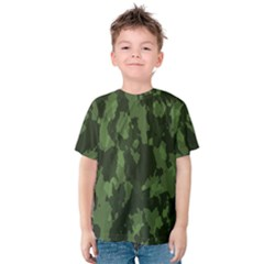 Camouflage Green Army Texture Kids  Cotton Tee