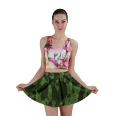 Camouflage Green Army Texture Mini Skirt