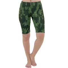 Camouflage Green Army Texture Cropped Leggings