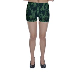 Camouflage Green Army Texture Skinny Shorts