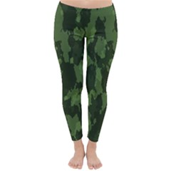 Camouflage Green Army Texture Classic Winter Leggings