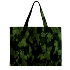 Camouflage Green Army Texture Zipper Mini Tote Bag