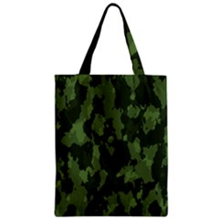 Camouflage Green Army Texture Zipper Classic Tote Bag