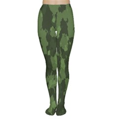Camouflage Green Army Texture Women s Tights