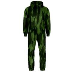 Camouflage Green Army Texture Hooded Jumpsuit (Men)