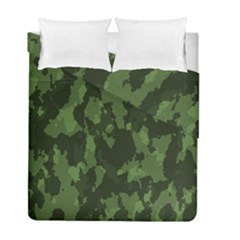Camouflage Green Army Texture Duvet Cover Double Side (full/ Double Size)