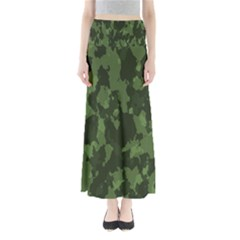 Camouflage Green Army Texture Maxi Skirts
