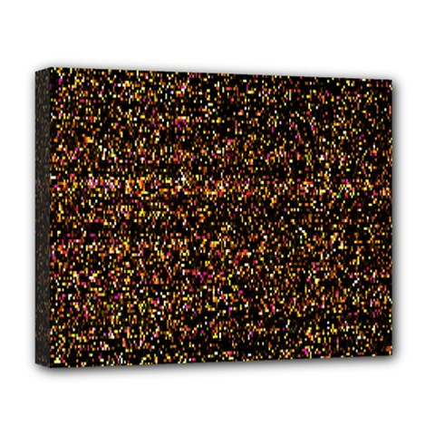 Pixel Pattern Colorful And Glowing Pixelated Deluxe Canvas 20  X 16