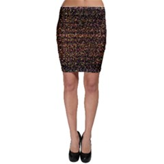 Pixel Pattern Colorful And Glowing Pixelated Bodycon Skirt