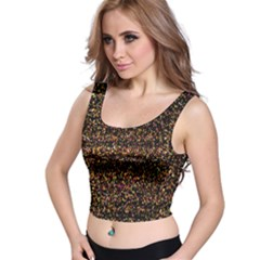 Pixel Pattern Colorful And Glowing Pixelated Crop Top