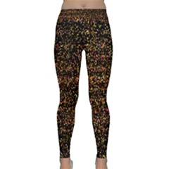 Pixel Pattern Colorful And Glowing Pixelated Classic Yoga Leggings