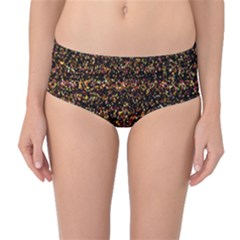 Pixel Pattern Colorful And Glowing Pixelated Mid Waist Bikini Bottoms