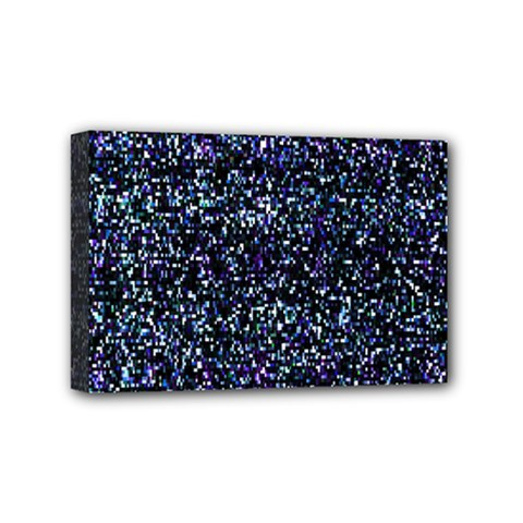 Pixel Colorful And Glowing Pixelated Pattern Mini Canvas 6  X 4