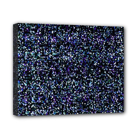 Pixel Colorful And Glowing Pixelated Pattern Canvas 10  X 8