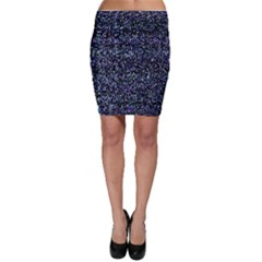 Pixel Colorful And Glowing Pixelated Pattern Bodycon Skirt