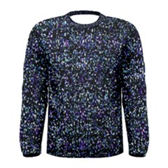 Pixel Colorful And Glowing Pixelated Pattern Men s Long Sleeve Tee