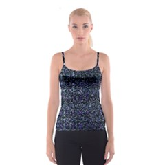 Pixel Colorful And Glowing Pixelated Pattern Spaghetti Strap Top
