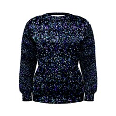 Pixel Colorful And Glowing Pixelated Pattern Women s Sweatshirt