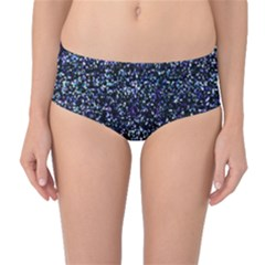 Pixel Colorful And Glowing Pixelated Pattern Mid Waist Bikini Bottoms