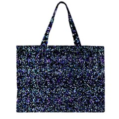 Pixel Colorful And Glowing Pixelated Pattern Large Tote Bag
