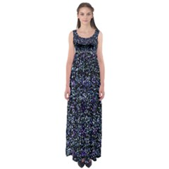 Pixel Colorful And Glowing Pixelated Pattern Empire Waist Maxi Dress