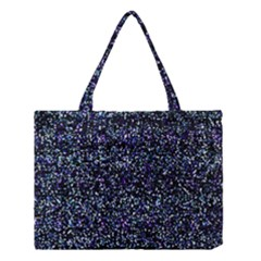 Pixel Colorful And Glowing Pixelated Pattern Medium Tote Bag