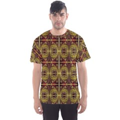 Seamless Symmetry Pattern Men s Sport Mesh Tee