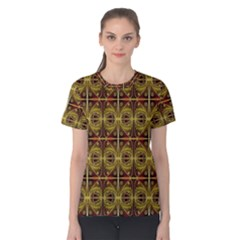 Seamless Symmetry Pattern Women s Cotton Tee