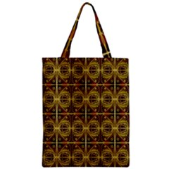 Seamless Symmetry Pattern Zipper Classic Tote Bag