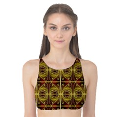 Seamless Symmetry Pattern Tank Bikini Top