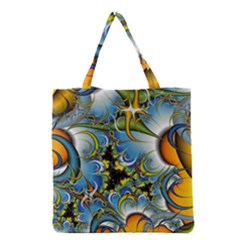 Fractal Background With Abstract Streak Shape Grocery Tote Bag