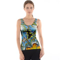 Fractal Background With Abstract Streak Shape Tank Top