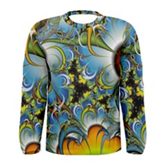 Fractal Background With Abstract Streak Shape Men s Long Sleeve Tee