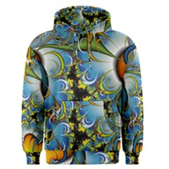 Fractal Background With Abstract Streak Shape Men s Pullover Hoodie