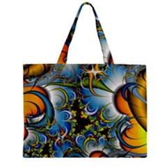 Fractal Background With Abstract Streak Shape Zipper Mini Tote Bag