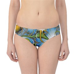Fractal Background With Abstract Streak Shape Hipster Bikini Bottoms