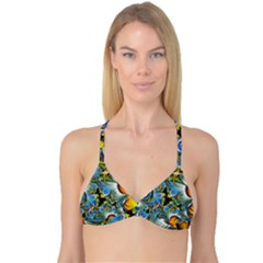 Fractal Background With Abstract Streak Shape Reversible Tri Bikini Top