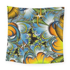 Fractal Background With Abstract Streak Shape Square Tapestry (large)