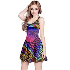 3d Fractal Mandelbulb Reversible Sleeveless Dress