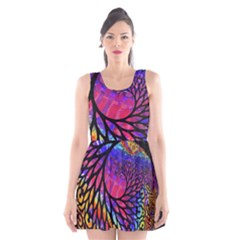 3d Fractal Mandelbulb Scoop Neck Skater Dress