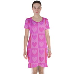 Pattern Short Sleeve Nightdress