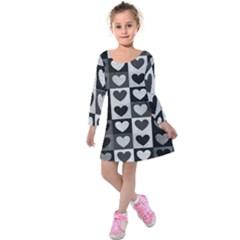 Pattern Kids  Long Sleeve Velvet Dress
