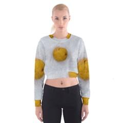 Hintergrund Salzkartoffel Women s Cropped Sweatshirt
