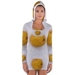 Hintergrund Salzkartoffel Women s Long Sleeve Hooded T Shirt