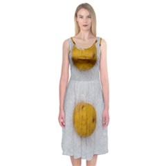 Hintergrund Salzkartoffel Midi Sleeveless Dress