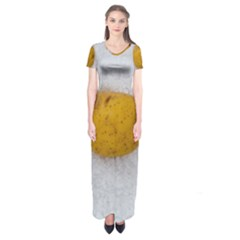 Hintergrund Salzkartoffel Short Sleeve Maxi Dress