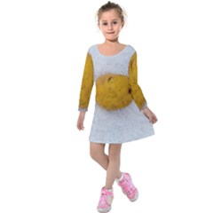 Hintergrund Salzkartoffel Kids  Long Sleeve Velvet Dress
