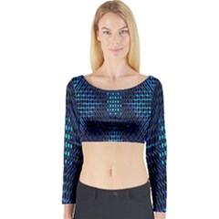 Vibrant Pattern Colorful Seamless Pattern Long Sleeve Crop Top