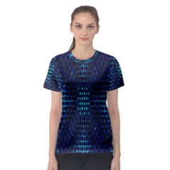 Vibrant Pattern Colorful Seamless Pattern Women s Sport Mesh Tee